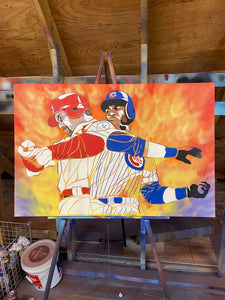 """HOME RUN KING"" - Original Painting by Matt Szczur (24x36)"
