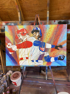 """HOME RUN KING"" - Original Painting by Matt Szczur (24x36) ㅤ"