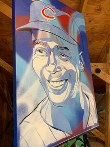 """ERNIE BANKS"" - Original Painting by Matt Szczur (24x36)"
