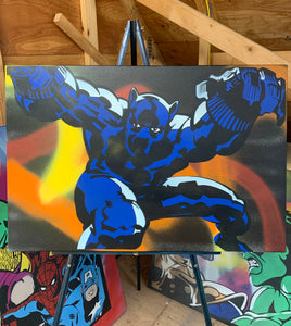 """BLACK PANTHER"" - Original Painting by Matt Szczur (24x36)"