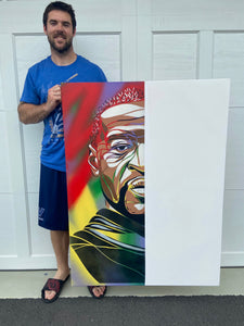 """George Floyd"" - Original Painting by Matt Szczur & Micah Johnson (36x48) [CHARITY ITEM]"
