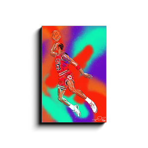 """MJ FLYING"" - Canvas Print by Matt Szczur (16x24)"
