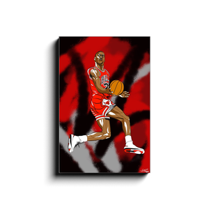 """MJ REVERSE"" - Canvas Print by Matt Szczur (16x24)"