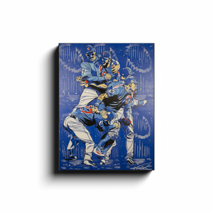 [NEW] 2016 Chicago Cubs World Series Canvas Print by Matt Szczur (12x16)