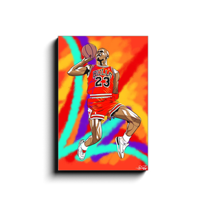 """MJ DUNK 1"" - Canvas Print by Matt Szczur (16x24)"
