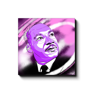 """MLK"" - Canvas Print by Matt Szczur (Multiple Sizes Available)"