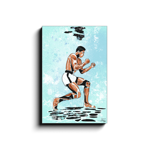 """ALI UNDER WATER"" - Canvas Print by Matt Szczur (Multiple Sizes Available)"