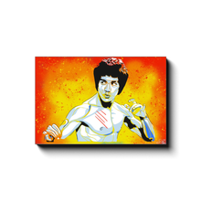 "Load image into Gallery viewer, ""BRUCE LEE"" - Canvas Print by Matt Szczur (Multiple Sizes Available)"