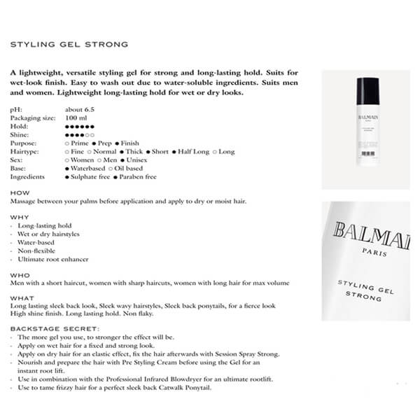 Balmain Styling Gel Strong