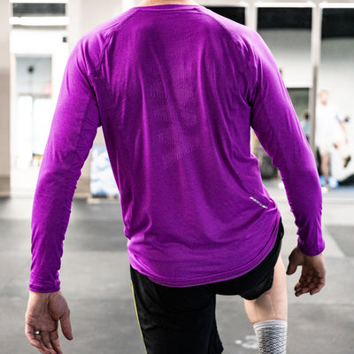 Lake Street Tech T- Long Sleeve Magenta