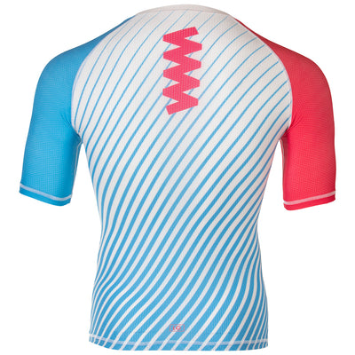 Zag 2.0 Blue & DL Pink Unisex Base Layer- Short Sleeve