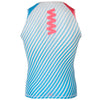 Zag 2.0 Blue & DL Pink Unisex Base Layer- Sleeveless