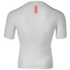 Zag 2.0 White Unisex Base Layer- Short Sleeve