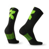 Cross X Merino Wool Black and Neon Yellow