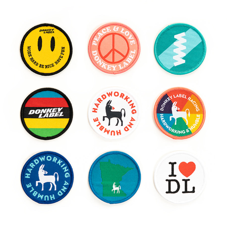 Donkey Label Patches