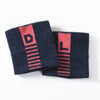 D/L Blue and Pink Wool Wristbands