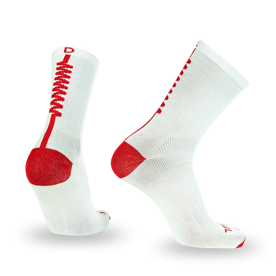DL Zig Zag- White and Red