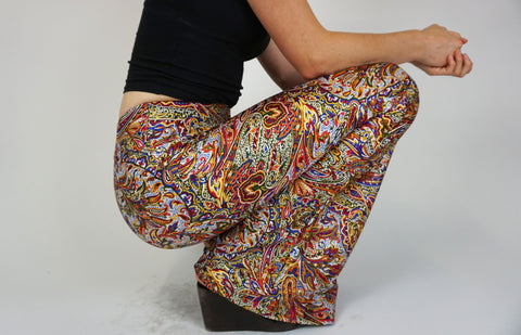 Bird of Paradise Flares - Recycled Fabric
