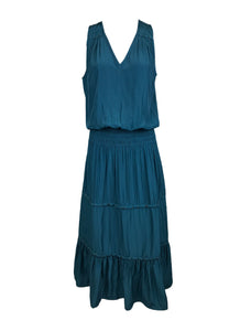 5190031 Tiered Midi Dress *Green *Last Piece