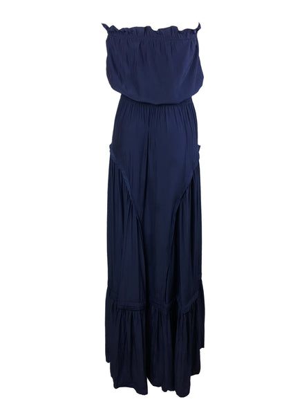 7190004 Strapless Maxi Dress *Navy Blue