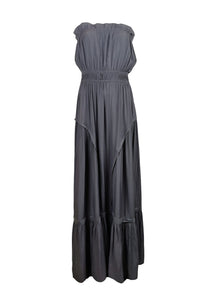7190004 Strapless Maxi Dress *Grey