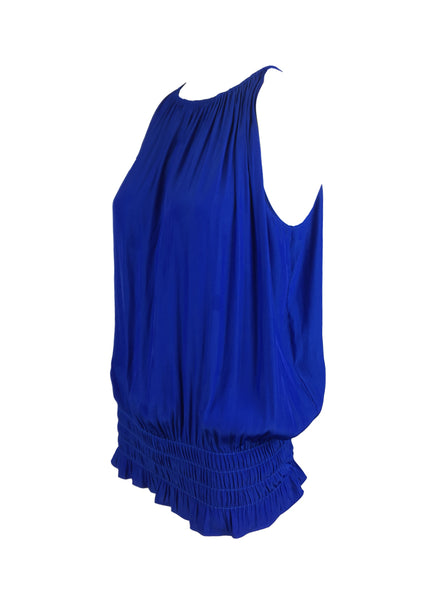O180027 Gathered Waist Sleeveless Top * Electric Blue