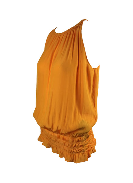 O180027 Gathered Waist Sleeveless Top *Tangerine