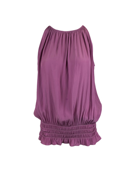 O180027 Gathered Waist Sleeveless Top *Violet