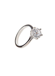 SHA0040 1 CARAT DIAMOND RING (SILVER)
