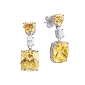 SHA0223 Square Gem Earring *Yellow