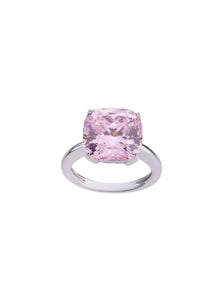 SHA0285 Crystal Simply Exchanted Ring *Pink