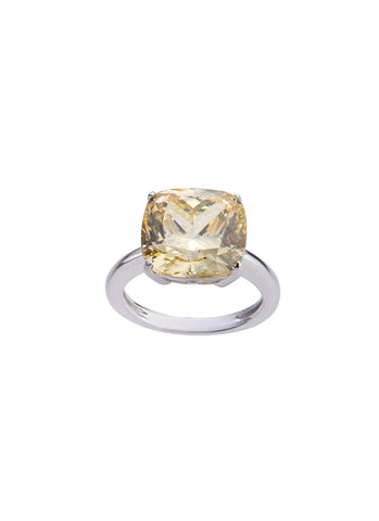 SHA0285 Crystal Simply Exchanted Ring *Yellow
