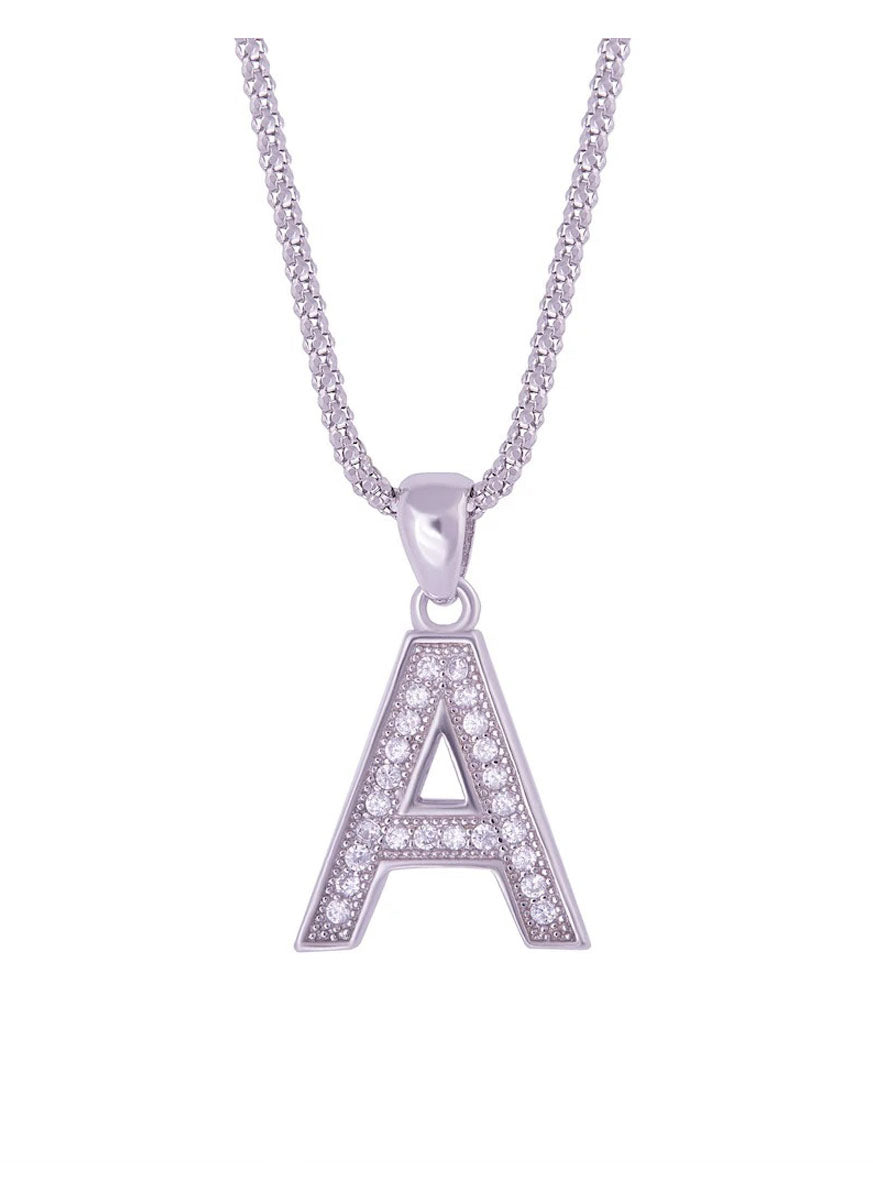 SHA0294 Alphabet Letter 'A' Necklace