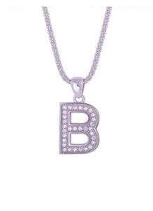 SHA0294 Alphabet Letter 'B' Necklace