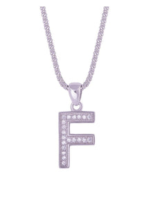 SHA0294 Alphabet Letter 'F' Necklace