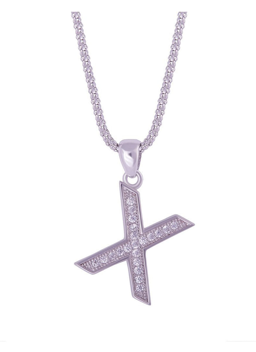 SHA0294 Alphabet Letter 'X' Necklace