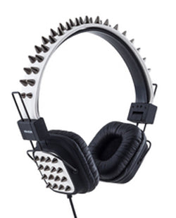 Various Punk Mix Style White Punk Headphones With Spikes Headphone