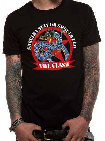 Clash Should I Stay Dragon Mens Tshirt