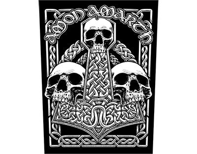 Amon Amarth 3 Skulls Backpatch Backpatche