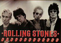 Rolling Stones Band Postcard