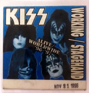 Kiss Vintage Stage Pass Kiss Alive 1996 Vintage Stage Passe
