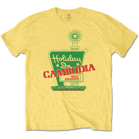 Dead Kennedys Holiday In Cambodia Yellow Mens Tshirt