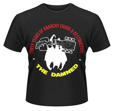 Damned 40 Years Of Anarchy And Chaos T-shirt