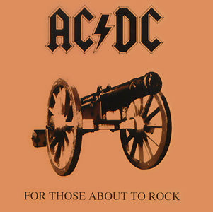ACDC AC/DC For Those About To Rock Sticker