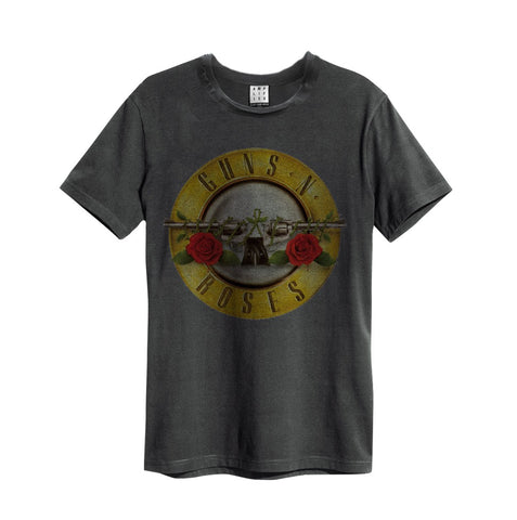 Guns N Roses Amplified Drum Design Mens Tshirt