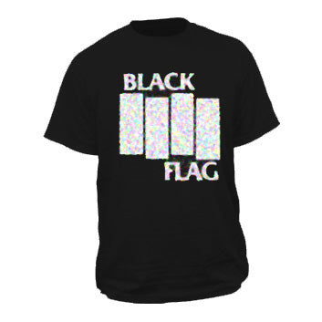 Black Flag Bars on Black Mens Tshirt