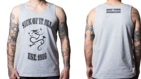 Sick Of It All Grey Dragon Vest Top Vest Top