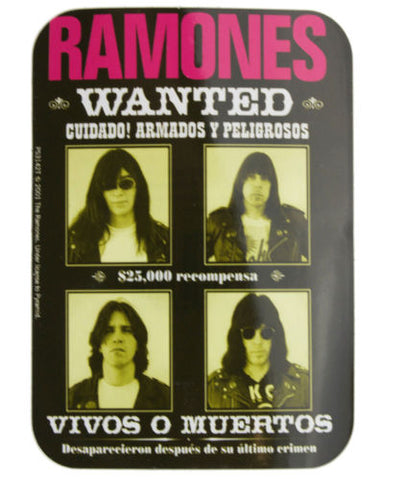 Ramones Wanted Sticker