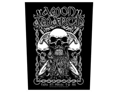 Amon Amarth Bearded Skull backpatch Backpatche