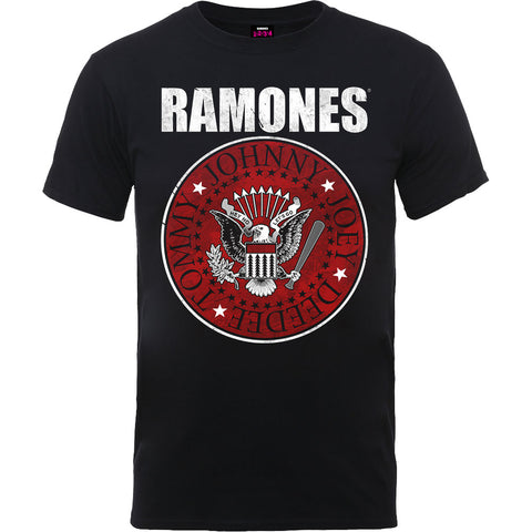 Ramones Red Fill Seal Mens Tshirt